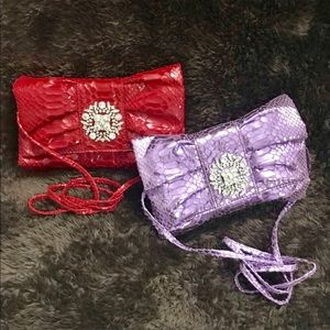 Lot of two Iman Convertible Clutch Purses